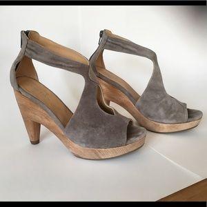 Sexy - Coclico Anthropologie grey suede heels